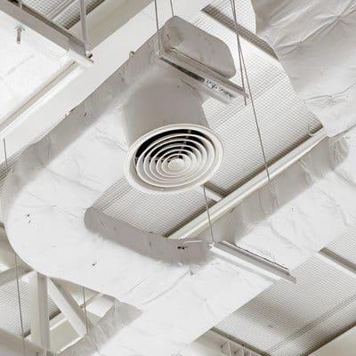 ventilatie wit plafond