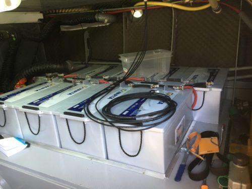 Batterijen woonboot