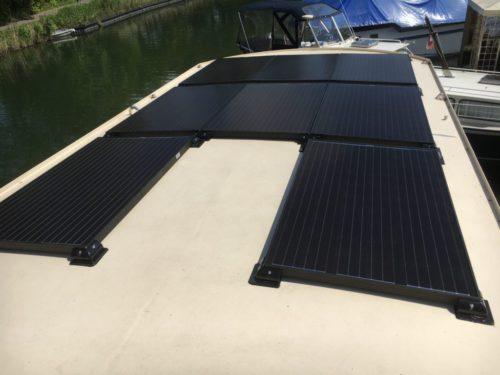 zonnepanelen woonboot geplaatst