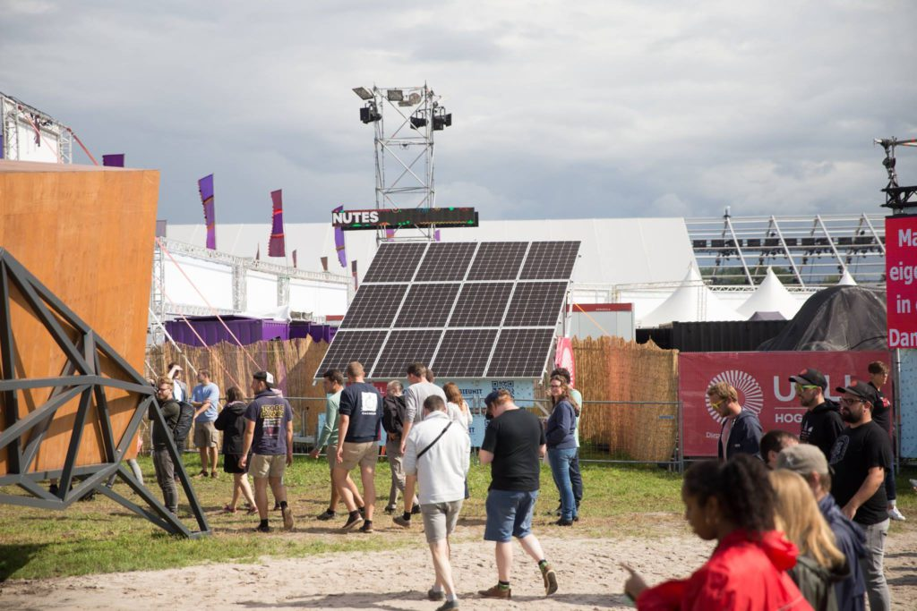 mobiele energie unit ucll en intellisol op pukkelpop 2017