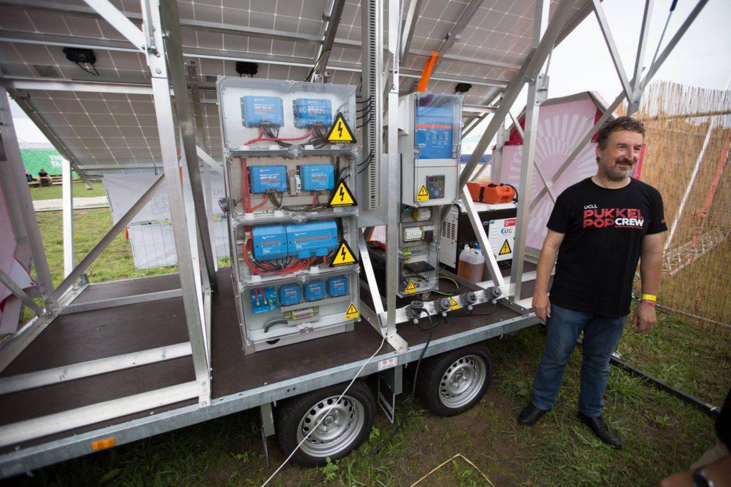 batterijsysteem victron energy op mobiele energie unit pukkelpop 2017