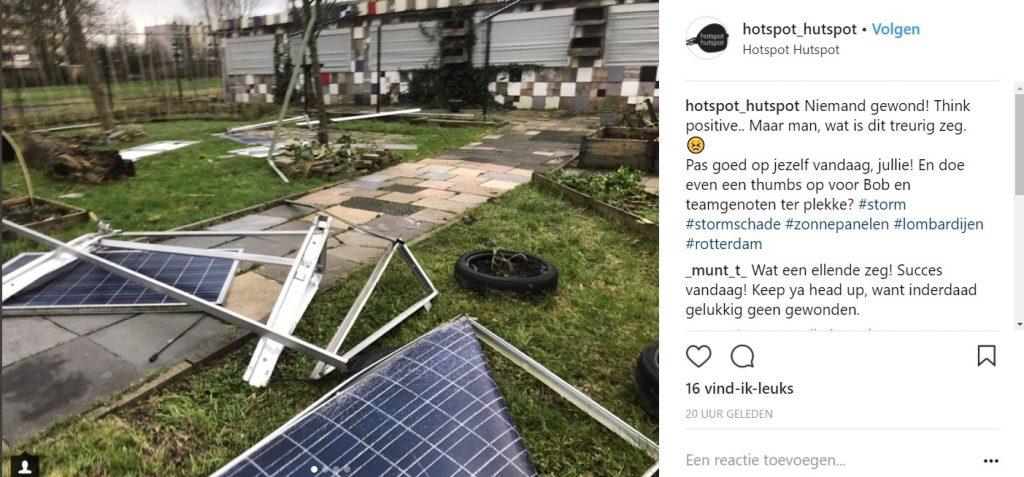 schade zonnepanelen door storm twitter