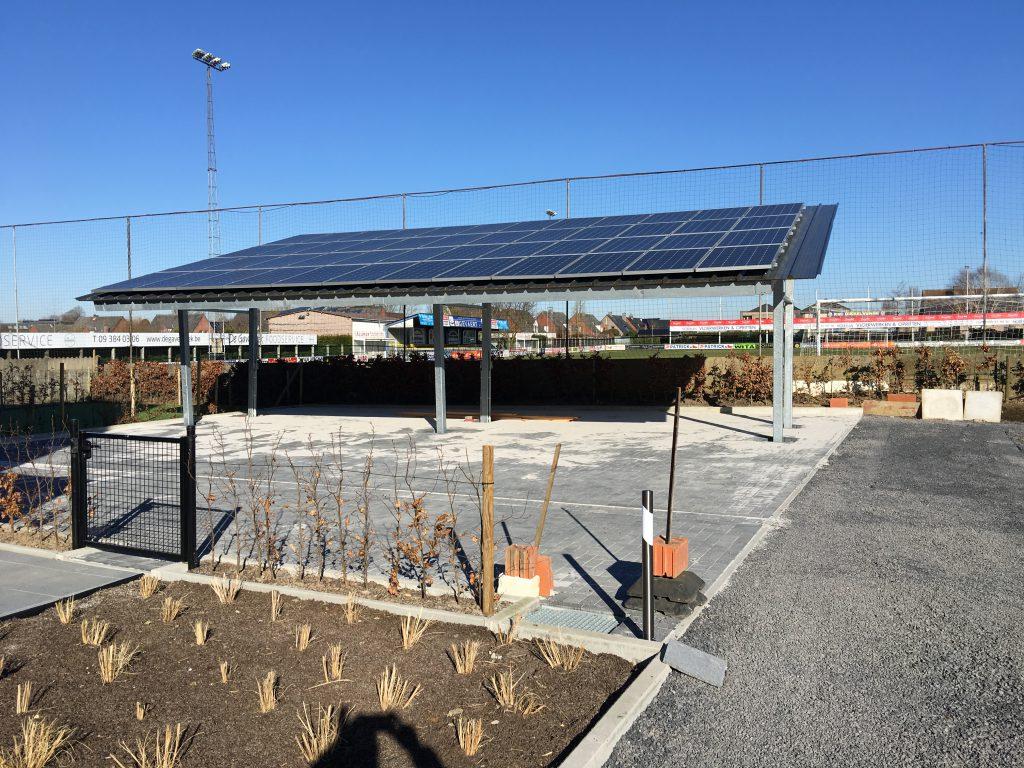 Carport met zonnepanelen in Gavere | Intellisol