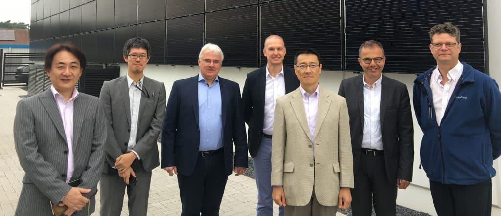 r&d afdeling mitsubishi electric japan voor de zonnegevel van het energiecentrum bouw en renovatie