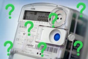 digitale meter met vraagtekens